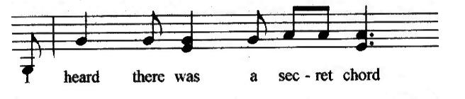 I heard there was a secret chord